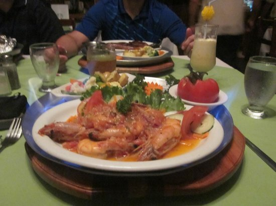Nene's Restaurant :                   flaming jumbo shrimp
