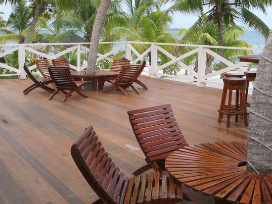 Turneffe Island Resort:                   Deck outside dining room
