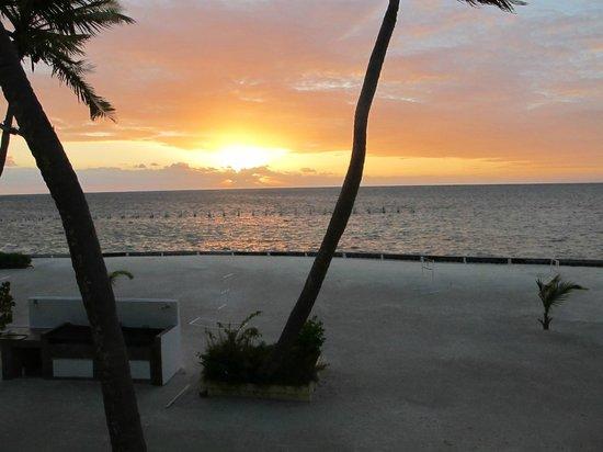 Turneffe Island Resort:                   Sunrise second day