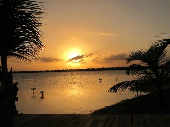 Turneffe Island Resort:                   Sunset first day