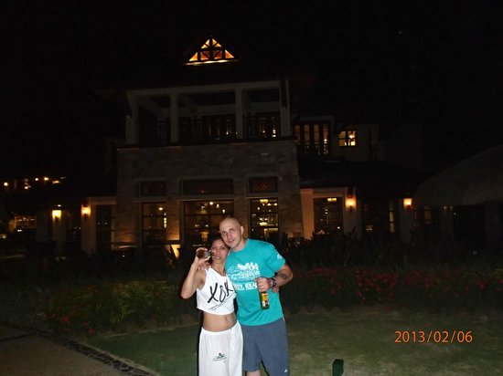 Crimson Resort and Spa, Mactan:                   My wife and I at the Crimson