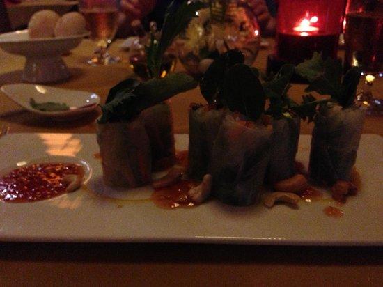 Fai - the dining experience :                   Avocado Spring Rolls