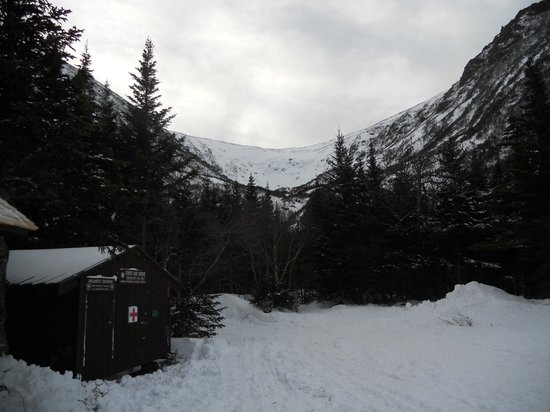 Joe Dodge Lodge :                   Tuckerman's Ravine is a 2.4 mile (steep uphill) hike from the lodge