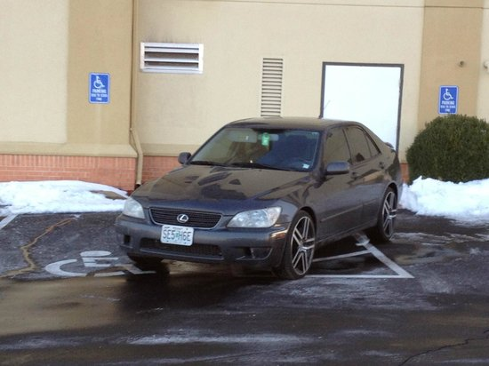 Holiday Inn Express Fenton:                   We were told by the desk staff that this car belonged to the owner.