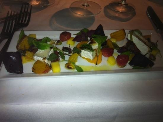 Chops City Grill: Baby beet salad with blue cheese