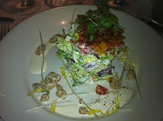 Chops City Grill: Chopped salad... so artistic and delicious!
