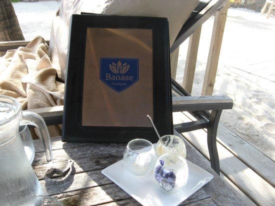Baoase Luxury Resort:                   the menu