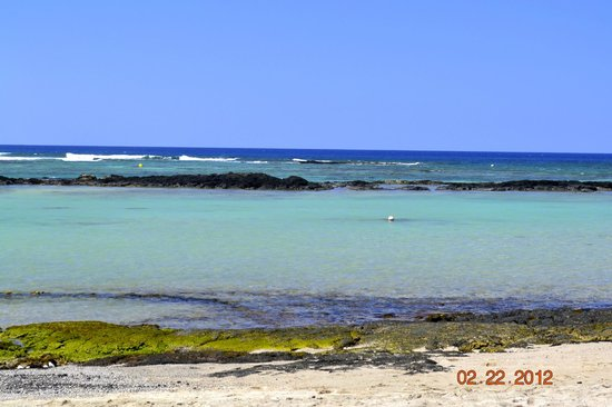 Mauna Lani Bay Hotel & Bungalows:                   View from beach