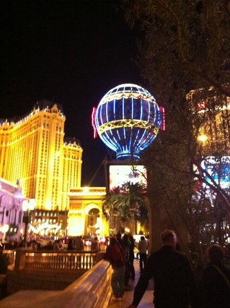 Treasure Island - TI Hotel & Casino: View of Paris from Bellagio.