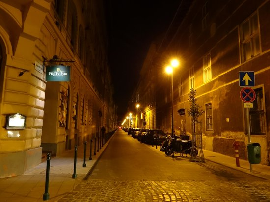 Hotel Palazzo Zichy: Quiet street near the hotel.  Eat & drink at Fiktiv Pub.