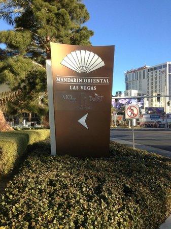 Mandarin Oriental, Las Vegas:                   View from the Strip