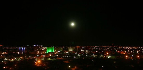 Embassy Suites by Hilton Albuquerque - Hotel & Spa:                   Moon over Albuquerque
