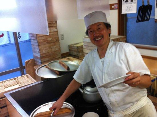 Kameido Gyoza Honten:                   one of the fantastic chefs