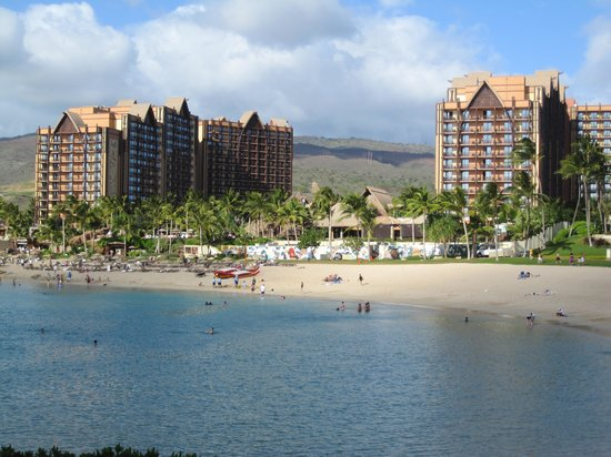 Aulani, a Disney Resort & Spa: Resort from far side of lagoon