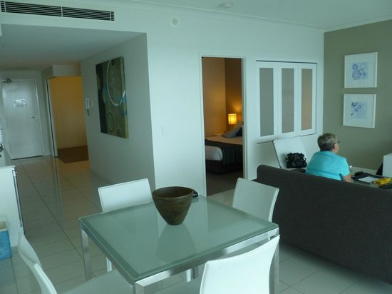 Silvershore Apartments on the Broadwater:                                     Living area