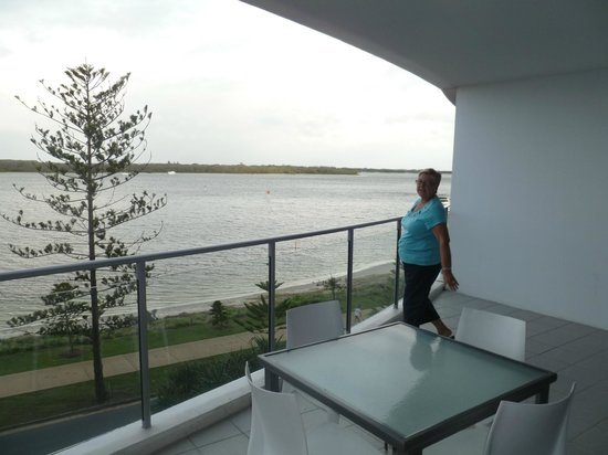 Silvershore Apartments on the Broadwater:                                     Balcony overlooking Broadwater
