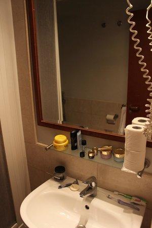 Hotel Ercoli :                   Lavabo del sanitario.