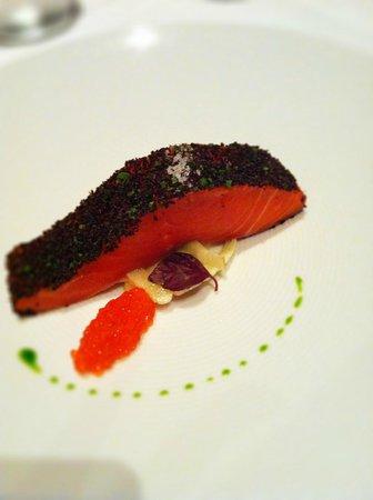 Tetsuya's signature dish - confit ocean trout