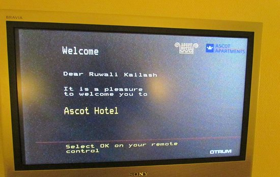 Ascot Hotel: Welcome note
