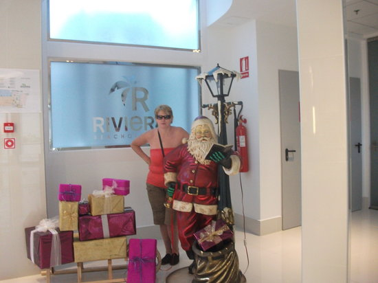 Riviera Beachotel:                   christmas at the riveria beach benidorm
