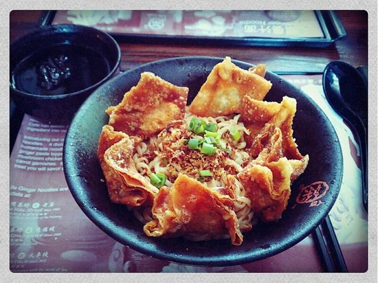 Life Cafe:                   Spicy Noodle with Fried Dumplings