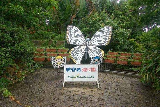 Ryugujo Butterfly Garden: Entrance to Butterfly House