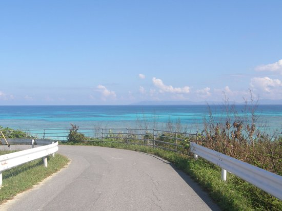 Nishihama Beach:                   ニシ浜への道から