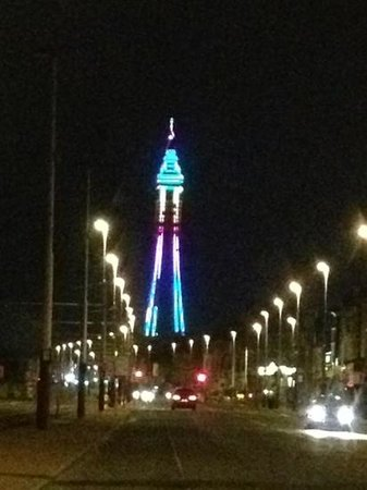 The Big One: view of Blackpool tower Feb 2013