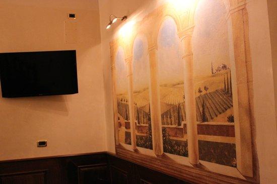 Hotel Santa Croce:                   Decoración de la recepción