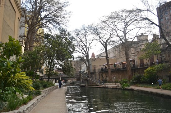 Courtyard San Antonio Riverwalk:                   Nice view just right back door of Hotel, not much traffic...