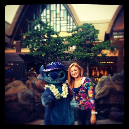 Aulani, a Disney Resort & Spa:                   Ran into Stitch on my way to dinner!