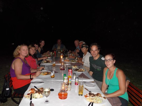 Crocodile Camp:                   Buffet  - outdoor dining