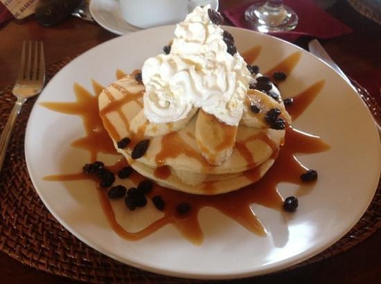 Junjungan Ubud Hotel and Spa: Pancake banane caramel