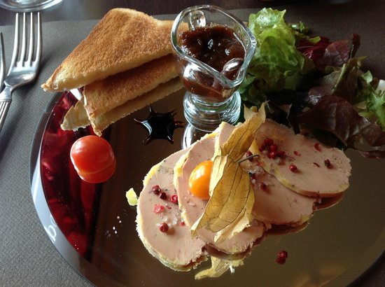 La Belle Epoque:                   Foie gras starter was beautifully presented.