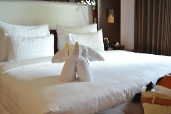 The Seminyak Beach Resort & Spa:                   Clever towel animals