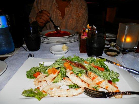 Bora Bora Pearl Beach Resort & Spa:                                     Delicious Salad, 1st course
