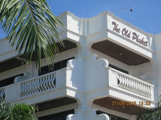 The Old Phuket:                   Two balconies for room 418