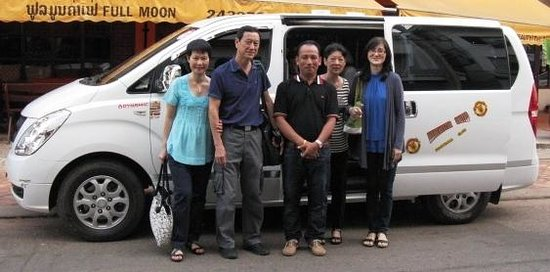 Best Western Vientiane Hotel: With our driver bidding farewell to Best Western