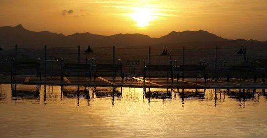 The Marmara, Bodrum:                   Sunset by the pool