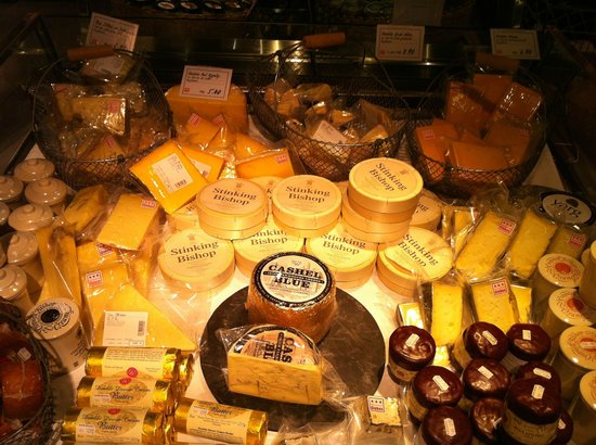 "Globus Geneva:                   Awesome cheese selection. They EVEN have Wallace & Grommit's ""Old Stinking Bis"