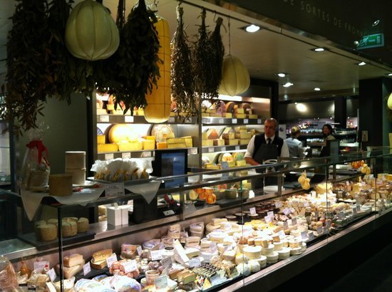 "Globus Geneva:                   Excellent cheese selection. DEFINITELY try the ""brie au truffle"". To die for!"