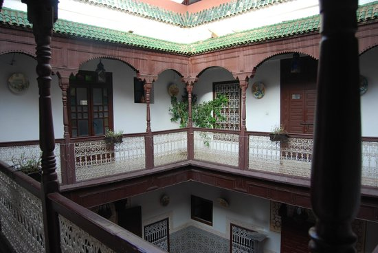 Riad les Oliviers:                   Der Innenhof
