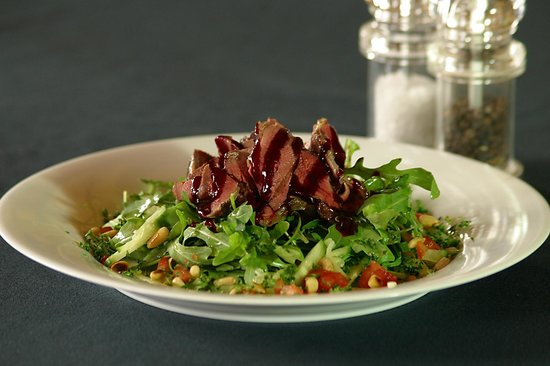 The Froize Freehouse Restaurant: Warm salad of pigeon breasts.