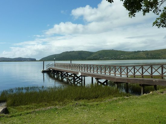 The St. James of Knysna:                   lagoon from garden