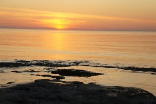 Inverhuron Provincial Park:                   Sunset at Inverhuron prov park