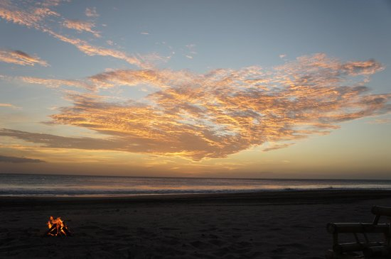 Popoyo Beach Hostel:                   Another beautiful sunset and beach bonfire