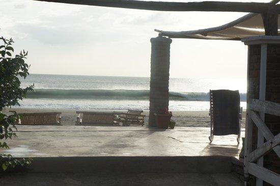 Popoyo Beach Hostel :                   View from the hammock
