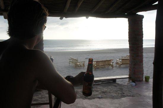 Popoyo Beach Hostel :                   Beach front Bar - best spot.