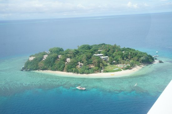 Royal Davui Island Resort:                   View of Royal Davui Island from Plane