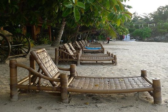 Alona Tropical Beach Resort:                   Beach chairs
